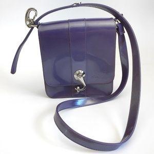 Beijo Purple Shoulder Bag Flap Hook Closure